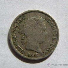 Monedas de España: ISABEL II. 20 CENTAVOS PESO. FILIPINAS. 1868. Lote 52549448