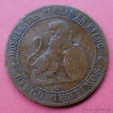 Monedas de España: GOBIERNO PROVISIONAL. MONEDA DE 5 CENTIMOS. 1870. . Lote 52551127