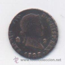 Monedas de España: FERNANDO VII- 2 MARAVEDIS- 1827-SEGOVIA. Lote 52641556