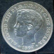 Monedas de España: ALFONSO XIII - MANILA (FILIPINAS) 1 PESO DE PLATA 1897 EBC+. Lote 52979462
