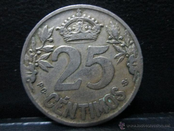 Monedas de España: 25 centimos 1925 alfonso XIII - Foto 2 - 53209797