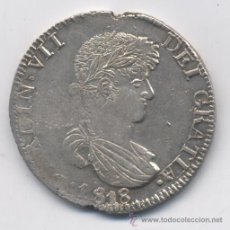 Monedas de España: FERNANDO VII- 8 REALES-1818-ZACATECAS. Lote 53289690