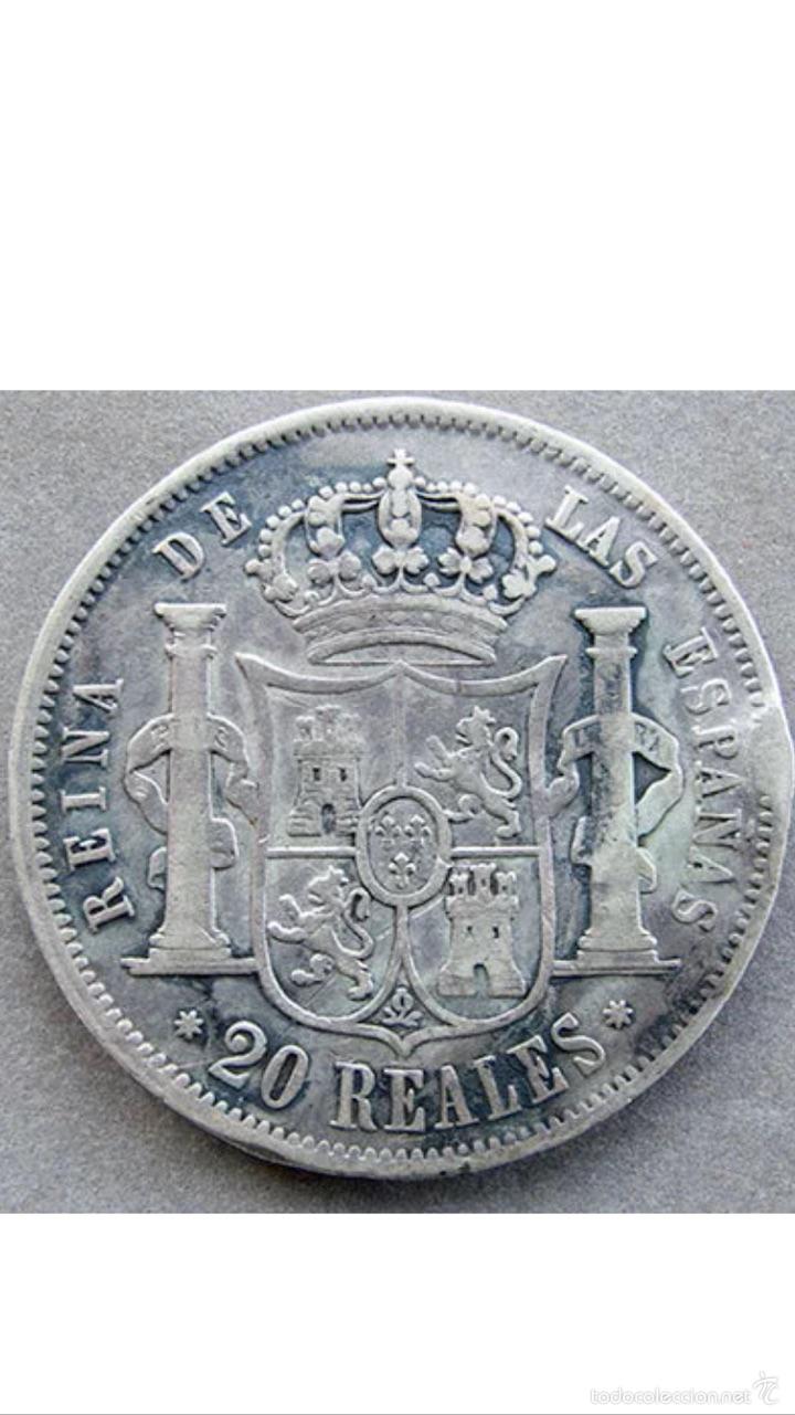 Monedas de España: Rarísimos 20 reales de Isabel ll 1852 plata muy rara - Foto 2 - 53345925