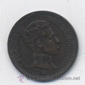 ALFONSO XIII- 2 CENTIMOS- 1904* EL 0 PARTIDO-VARIANTE-RARA-SC (Numismática - España Modernas y Contemporáneas - De Isabel II (1.834) a Alfonso XIII (1.931))