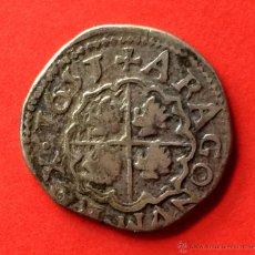 Monedas de España: ¡¡ MUY RARA !! PRECIOSO REAL DE FELIPE III DE ARAGON. FELIPE IV DE ESPAÑA. AÑO 1651. ZARAGOZA.. Lote 53496651