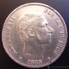 Monedas de España: 50 CENTAVOS DE PESO DE 1885 ••• EXCELENTE BUENA CONSERVACION +++ ••• MANILA ••• ALFONSO XII. Lote 53643264