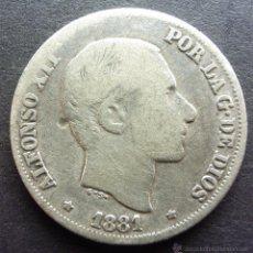 Monedas de España: 10 CENTAVOS DE PESO DE 1881 ••• MUY BUENA CONSERVACION- ••• MANILA ••• ALFONSO XII. Lote 53643811