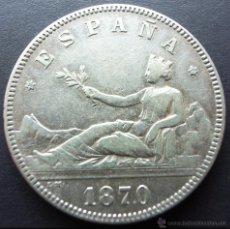 Monedas de España: 2 PESETAS DE 1870*18-74 ••• EXCELENTE BUENA CONSERVACION- ••• GOBIERNO PROVISIONAL. Lote 53668926