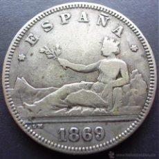 Monedas de España: 2 PESETAS DE 1869*18-69 ••• MUY BUENA CONSERVACION ••• GOBIERNO PROVISIONAL. Lote 67365394