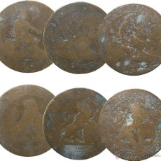 Monedas de España: GOBIERNO PROVISIONAL, 1870. 10 CÉNTIMOS. 3 PIEZAS.. Lote 53712386