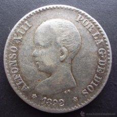 Monedas de España: 50 CENTIMOS DE 1892*9-2 ••• EXCELENTE BUENA CONSERVACION- ••• ALFONSO XIII. Lote 53736639