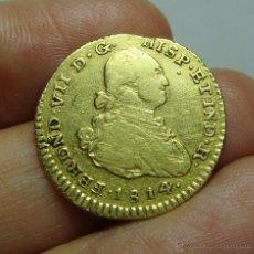 1 Escudo. Oro. Fernando VII. Popayan - JF - 1814