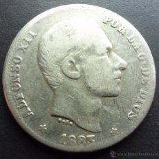 Monedas de España: 20 CENTAVOS DE PESO DE 1883 ••• MUY BUENA CONSERVACION- ••• MANILA ••• ALFONSO XII. Lote 53754734
