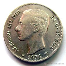 Monedas de España: ALFONSO XII . 1 PESETA 1876 * 18-76. Lote 67476198