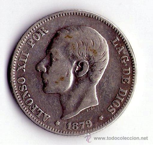 MONEDA DE PLATA DE 2 PESETAS-ALFONS0O XII (Numismática - España Modernas y Contemporáneas - De Isabel II (1.834) a Alfonso XIII (1.931))