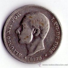 Monedas de España: MONEDA DE PLATA DE 2 PESETAS-ALFONS0O XII. Lote 53962884