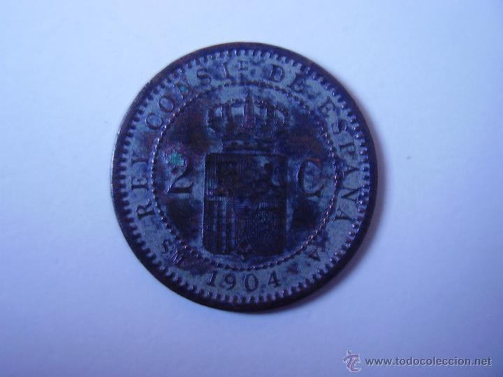 Monedas de España: 2 CÉNTIMOS ALFONSO XIII 1904 - Foto 2 - 54386520