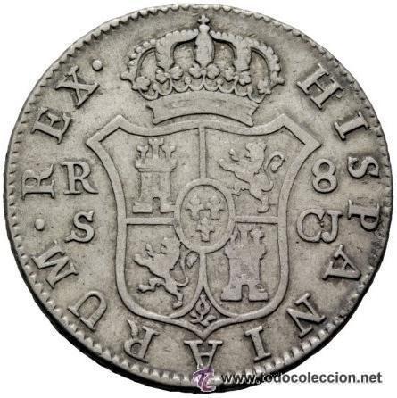 Monedas de España: 8 reales Fernando VII 1816 Sevilla C.J. - Plata - Foto 2 - 54426590