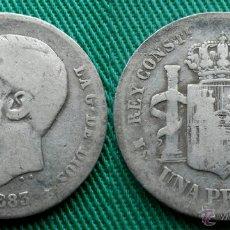 Monedas de España: ALFONSO XII 1 PESETA 1883 MSM. Lote 54714057