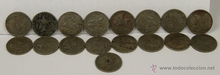 MO-200 - COLECCIÓN DE 17 MONEDAS EN COBRE-NIQUEL. ALFONSO XIII. 1925. (Numismática - España Modernas y Contemporáneas - De Isabel II (1.834) a Alfonso XIII (1.931))