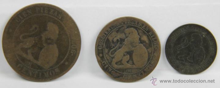 MO-205 - LOTE DE 14 MONEDAS DE COBRE. GOBIERNO PROVISIONAL.(VER DESCRIP). 1870. (Numismática - España Modernas y Contemporáneas - De Isabel II (1.834) a Alfonso XIII (1.931))