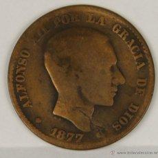 Monedas de España: MO-046. COLECCION DE 6 MONEDAS EN COBRE. ALFONSO XII. 1877. DIEZ Y CINCO CENTIMOS.. Lote 50403392