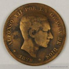 Monedas de España: MO-048. COLECCION DE 19 MONEDAS EN COBRE. ALFONSO XII. 1879. 10 CENTIMOS.. Lote 50404636