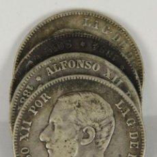Monedas de España: MO-058. COLECCION DE 4 MONEDAS EN PLATA. ALFONSO XII. 2 PESETAS. 1884.. Lote 50436516