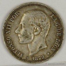 Monedas de España: MO-059. COLECCION DE SEIS MONEDAS EN PLATA. ALFONSO XII. 1879. 2 PESETAS.. Lote 50437349