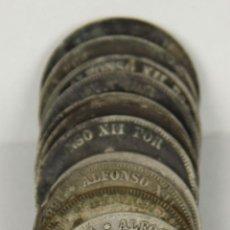 Monedas de España: MO-060. COLECCION DE 14 MONEDAS EN PLATA. ALFONSO XII. 1882. 2 PESETAS.. Lote 57840212