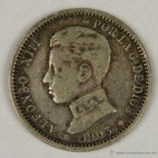 Monedas de España: MO-068. COLECCION DE 10 MONEDAS EN PLATA. ALFONSO XIII. 1903. 1 PESETA.. Lote 50451779