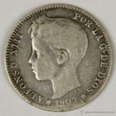 Monedas de España: MO-070. COLECCION DE 9 MONEDAS DE PLATA. ALFONSO XIII. 1902. UNA PESETA.. Lote 50452576