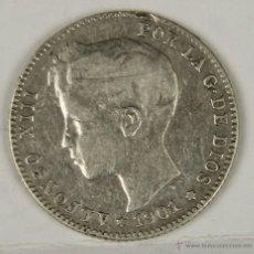 Monedas de España: MO-071. COLECCION DE 4 MONEDAS EN PLATA. ALFONSO XIII. 1901. UNA PESETA.. Lote 50453256