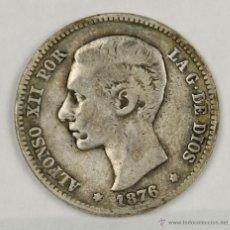 Monedas de España: MO-081. COLECCION DE 5 MONEDAS EN PLATA. ALFONSO XII. 1876. UNA PESETA.. Lote 50489398