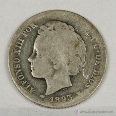 Monedas de España: MO-087 - MONEDA EN PLATA DE ALFONSO XIII. 1893. UNA PESETA.. Lote 50492332