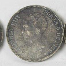 Monedas de España: MO-113 - COLECCIÓN DE 3 MONEDAS EN PLATA DE ALFONSO XIII. 1891. 5 PESETAS.. Lote 50525741