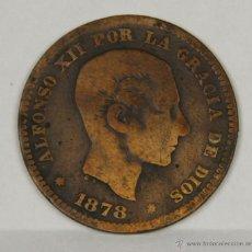 Monedas de España: MO-157. COLECCION DE 16 MONEDAS EN COBRE. ALFONSO XII. CINCO CENTIMOS. 1878.. Lote 50631665