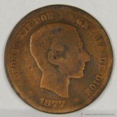Monedas de España: MO-158. COLECCION DE 10 MONEDAS EN COBRE. ALFONSO XII. CINCO CENTIMOS. 1877.. Lote 50632008