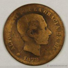 Monedas de España: MO-159. COLECCION DE 13 MONEDAS EN COBRE. ALFONSO XII. CINCO CENTIMOS. 1879.. Lote 50633452