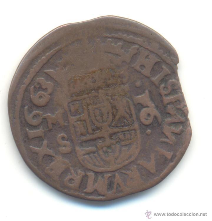 AB- 16 MARAVEDIS 1663 SEGOVIA FELIPE IV (Numismática - España Modernas y Contemporáneas - De Reyes Católicos (1.474) a Fernando VII (1.833))