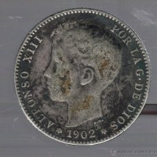 Monedas de España: MONEDA DE 1 PESETA. 1902. ALFONSO XIII. SMV. Lote 55023460