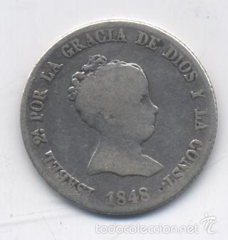 ISABEL II- 4 REALES-1848-MADRID-CL (Numismática - España Modernas y Contemporáneas - De Isabel II (1.834) a Alfonso XIII (1.931))