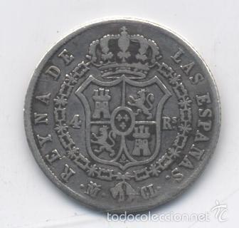 Monedas de España: ISABEL II- 4 REALES-1848-MADRID-CL - Foto 2 - 55165240