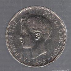 Monedas de España: 5 PESETAS. ALFONSO XIII. 1898. SGV. VER IMAGEN. Lote 55167405