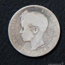 Monedas de España: 1 UNA PESETA - ALFONSO XIII - AÑO 1901. Lote 55323048