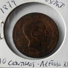 Monedas de España: MONEDA ALFONSO XII-10 CENTIMOS 1879.COBRE. Lote 55349982