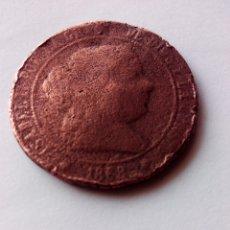 Monedas de España: MONEDA. ESPAÑA. 5 CENTIMOS DE ESCUDO. ISABEL II.1868. Lote 55375949