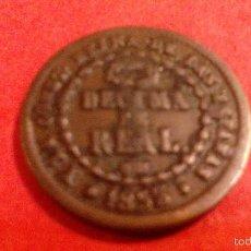 Monedas de España: ISABEL II, DECIMA DE REAL, 1853 SEGOVIA. Lote 55833036