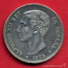 Monedas de España: MONEDA 5 PESETAS ALFONSO XII , 1875 , ESTRELLAS 75 , DURO DE PLATA , MBC , D1678. Lote 55973927