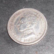 Monedas de España: 50 CENTIMOS ALFONSO XIII 1904 10 PLATA. Lote 56052905